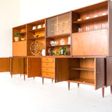 Danish Teak & Walnut Wall Unit