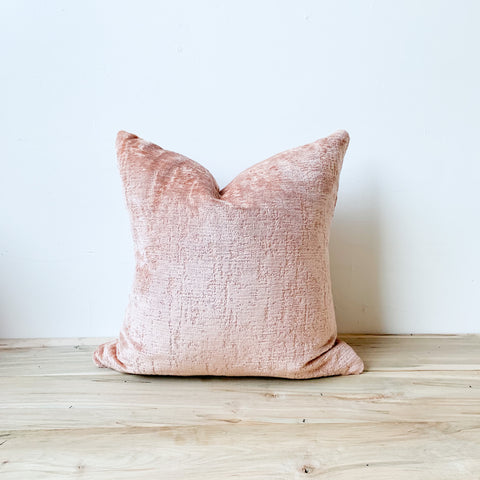 Blush Chenille Pillow 18x18