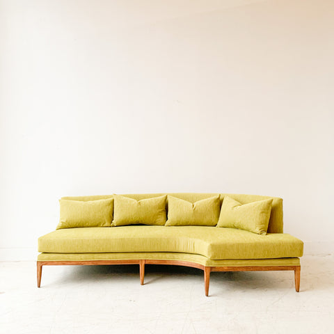 Mid Century Modern Curved Sofa by Tomlinson - New Upholstery