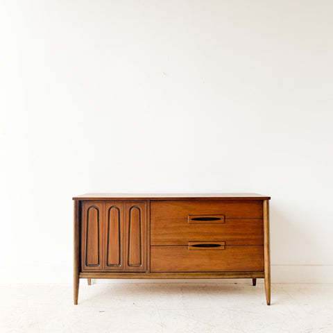 Mid Century Buffet w/ Sculpted Front Door