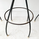 Set of 3 Arthur Umanoff Style Bar Stools