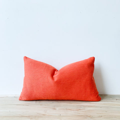 Bright Orange Lumbar Pillow 14x24