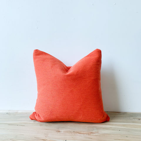 Bright Orange Pillow 18x18