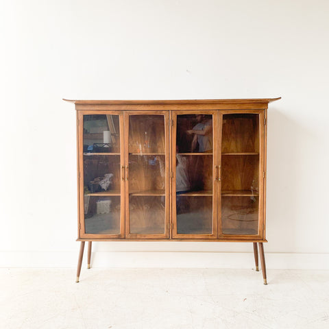 Mid Century Asian Style Curio Cabinet