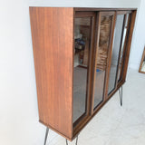 Mid Century Curio w/ Sliding Glass Doors