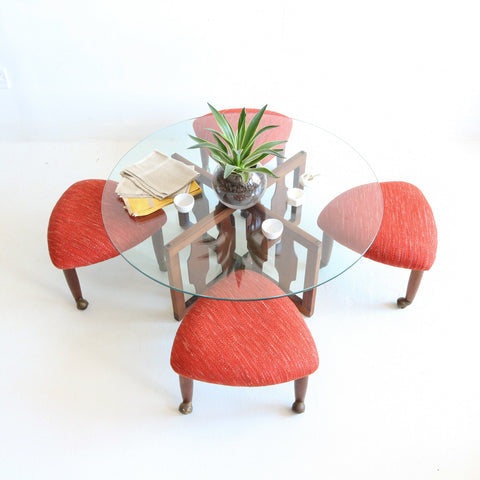 Adrian Pearsall Coffee Table & Stools