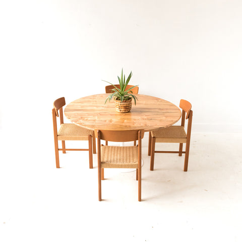 Maple Dining Table with Vintage Tulip Base