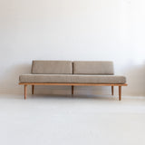 Mid Century Inspired Cherry Sofa