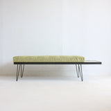 Atomic Bench with Mosaic End Table