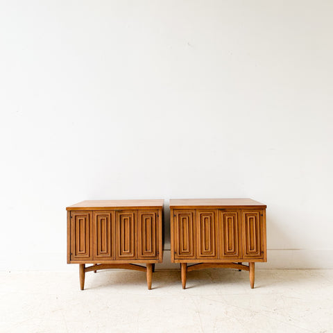 Pair of Mid Century Broyhill Sculptra Nightstands