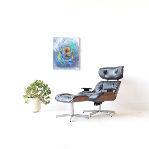Black Selig Lounge Chair and Ottoman