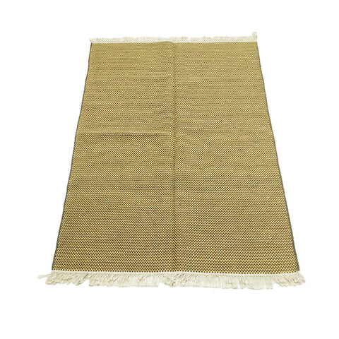 Drugget (consisting of a cotton warp and wool filling) rug - Made in India