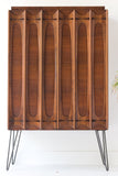 Mid Century Sculpted Armoire