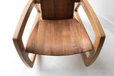 Black Walnut and Oak Rocker