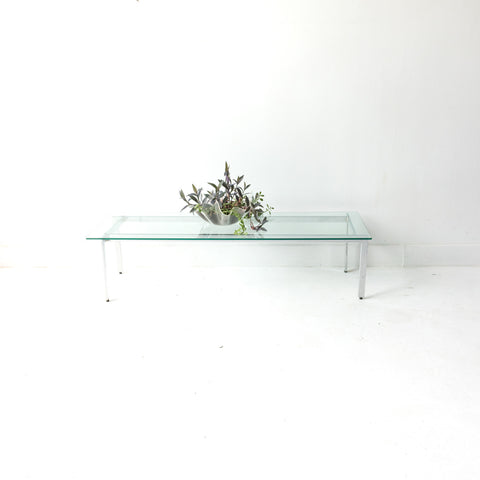Vintage Chrome and Glass Coffee Table