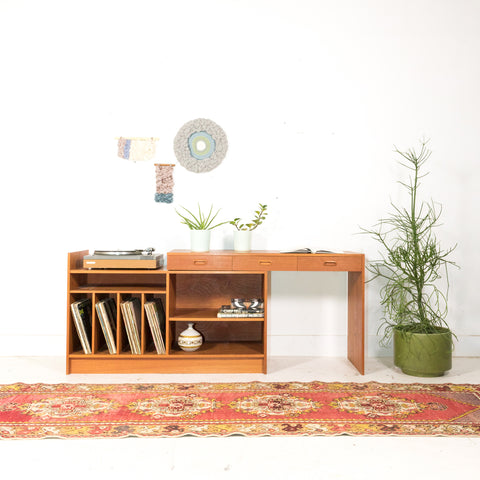 Teak Adjustable Media Center