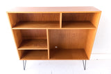 Danish Teak Curio Cabinet with Adustable Shelving