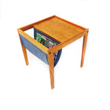 Mid Century Teak Magazine Holder/Side Table
