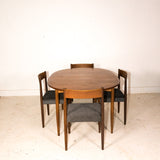 Danish Teak Oval Dining Table with 1 Leaf
