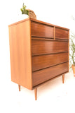 Mid Century Highboy Dresser by Dixie