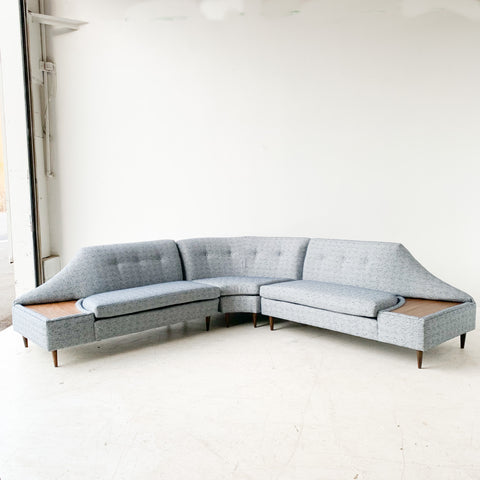 Mid Century Sectional with New Upholstery