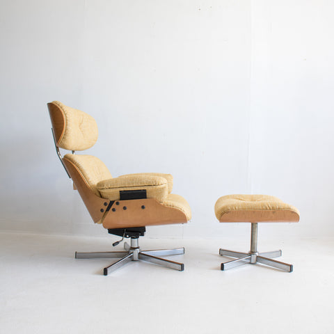 ... Eames Style Lounge Chair/Ottoman   Yellow/Gold ...