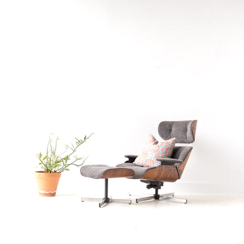 Eames Style Lounge Chair and Ottoman