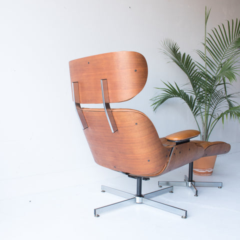 ... Eames Style Selig Lounge Chair And Ottoman ...