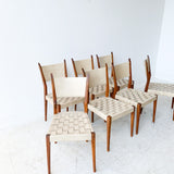 Set of 7 Paul McCobb Dining Chairs
