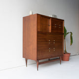 Genova Furniture Highboy Dresser