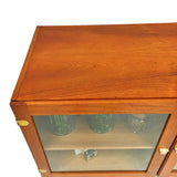 Danish Teak Curio Cabinet by H.G. Furniture