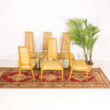 Mid Century Cane Back Dining Chair Set