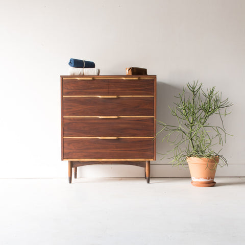 Mid Century Two Toned Highboy