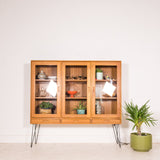 Danish Teak Lighted Curio Cabinet