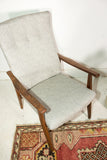 Mid Century High Back Occasional Chair