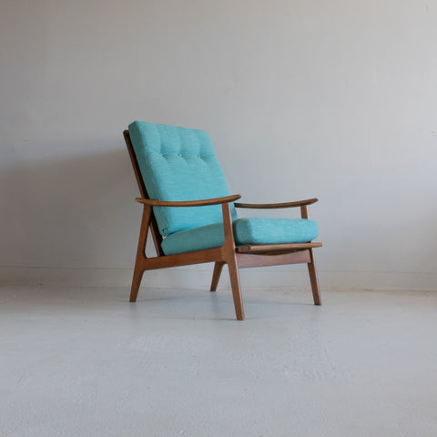Mid Century High Back Lounge Chair