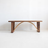 Modern Oak & Walnut Slat Bench (Petite)