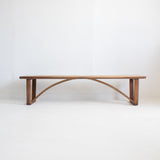 Modern Oak & Walnut Slat Bench