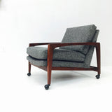 Mid Century Walnut Lounge Chair