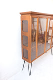Mid Century Curio Cabinet with Glass Shelving