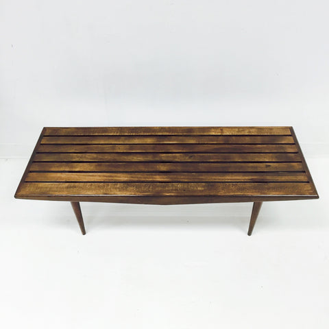 ... Mid Century Slat Bench/Coffee Table ...