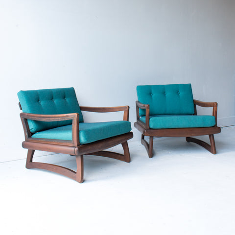 Pair of Sculpted Lounge Chairs
