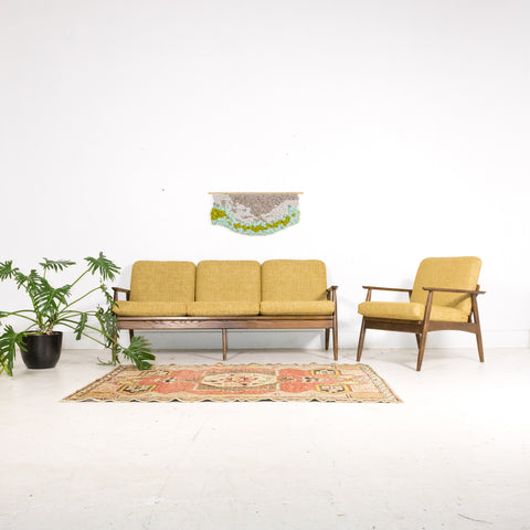 Mid Century Modern Sofa and Chair Set