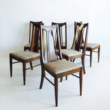 Mid Century Walnut Dining Chairs - 6