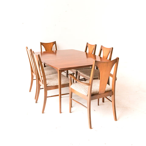 Mid Century Modern Walnut Dining Set