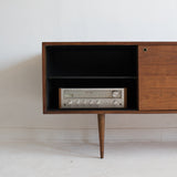 Mid Century Walnut Media Center