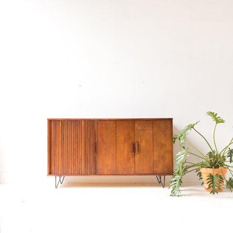 Mid Century Walnut Buffet/Media Cabinet