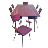 Purple Heart Wrought Iron Dining Set