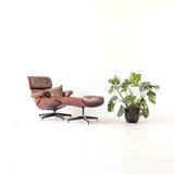 Modern Eames Style Chair and Ottoman