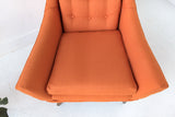 Mid Century Modern Orange Lounge Chair